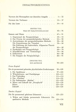 Das Zwischenreich – Inhaltsverzeichnis Seite 1