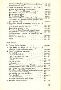Das Zwischenreich – Inhaltsverzeichnis Seite 5