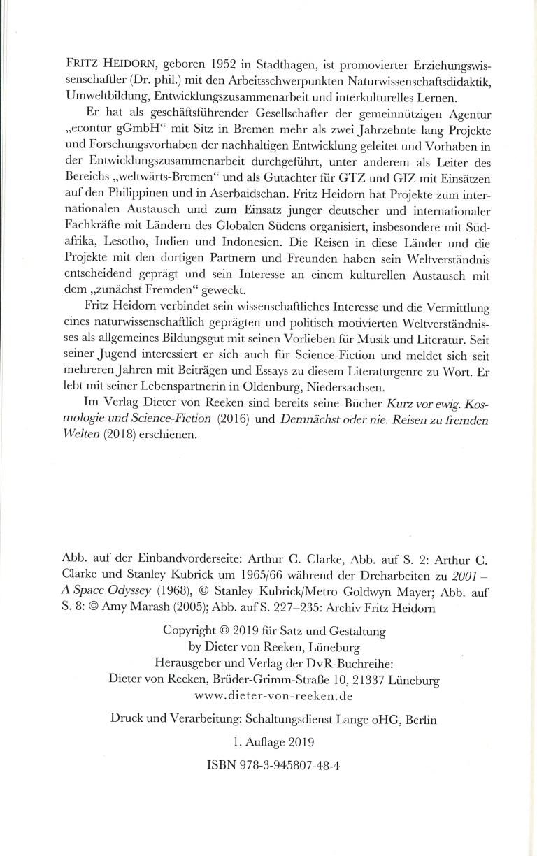 Arthur C. Clarke-Jenseites des Möglichen - Impressum