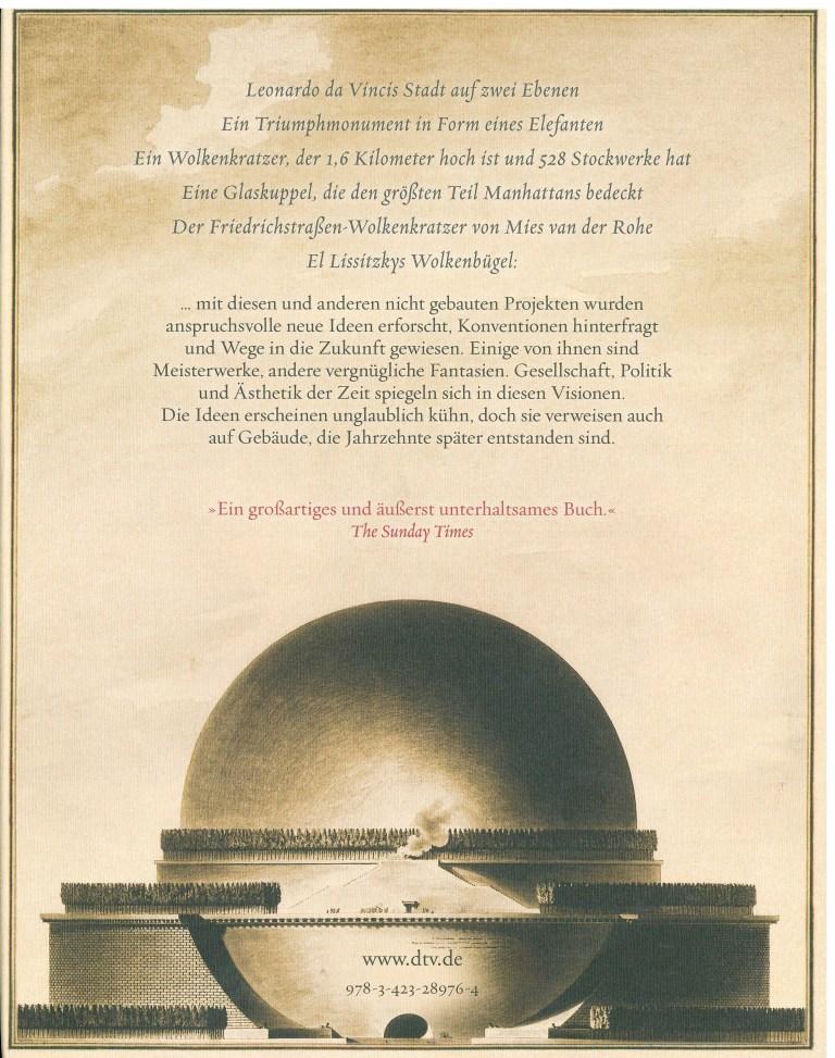 Atlas der nei gebauten Bauwerke - Rückencover