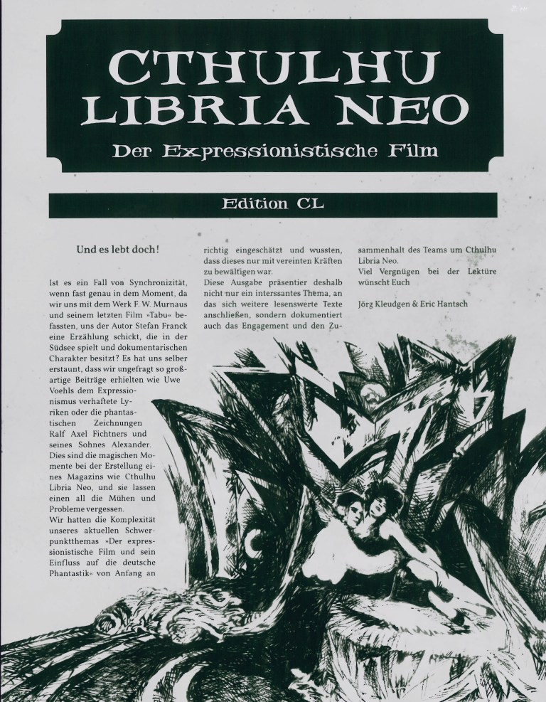 Cthuluhu Libria Neo - Nr. 4, Der expressionistische Film