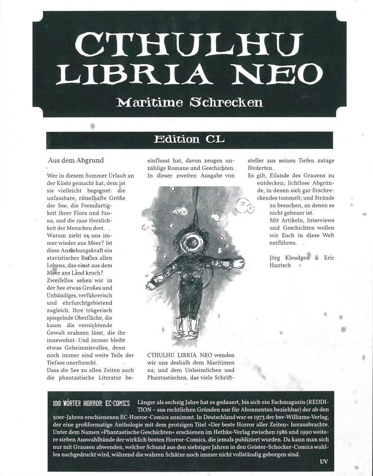 Cthuluhu Libria Neo - Nr. 2, Maritime Schrecken