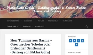 Herr Tumnus aus Narnia – Griechischer Schelm oder britischer Gentleman?