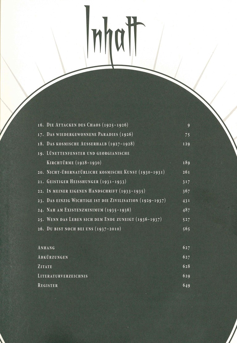 H. P. Lovecraft, Leben und Werk, Teil 2 - Inhalt