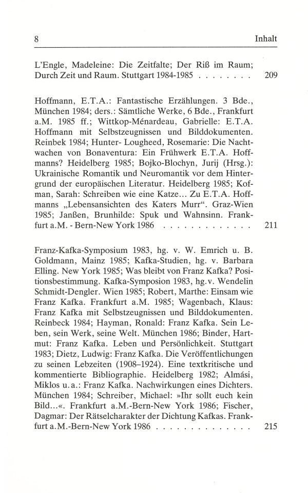 Inklings-Jahrbuch, Band 4 - Inhalt Seite 4