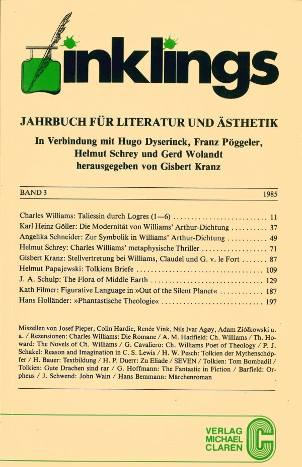 Inklings-Jahrbuch, Band 3 - Titelcover