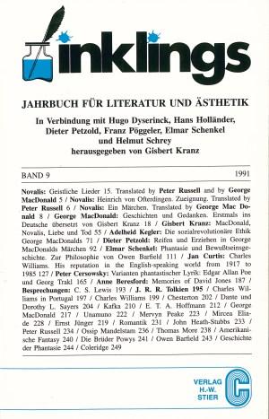 Inklings-Jahrbuch, Band 9 - Titelcover und Inhalt