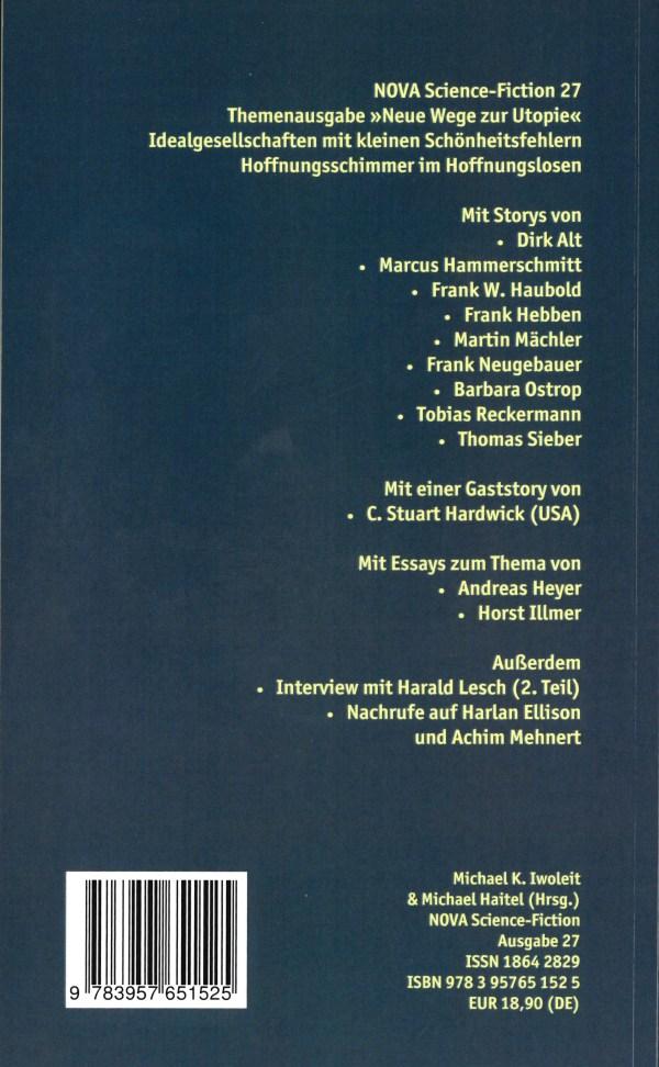 Nova, Nr. 27 - Rückencover