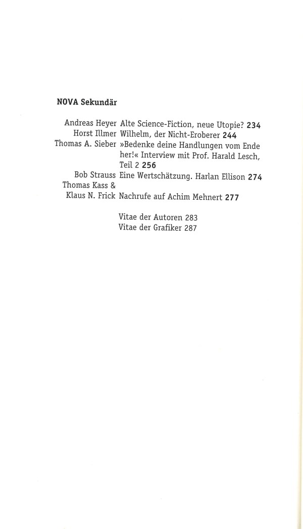Nova, Nr. 27 - Inhalt Seite 2