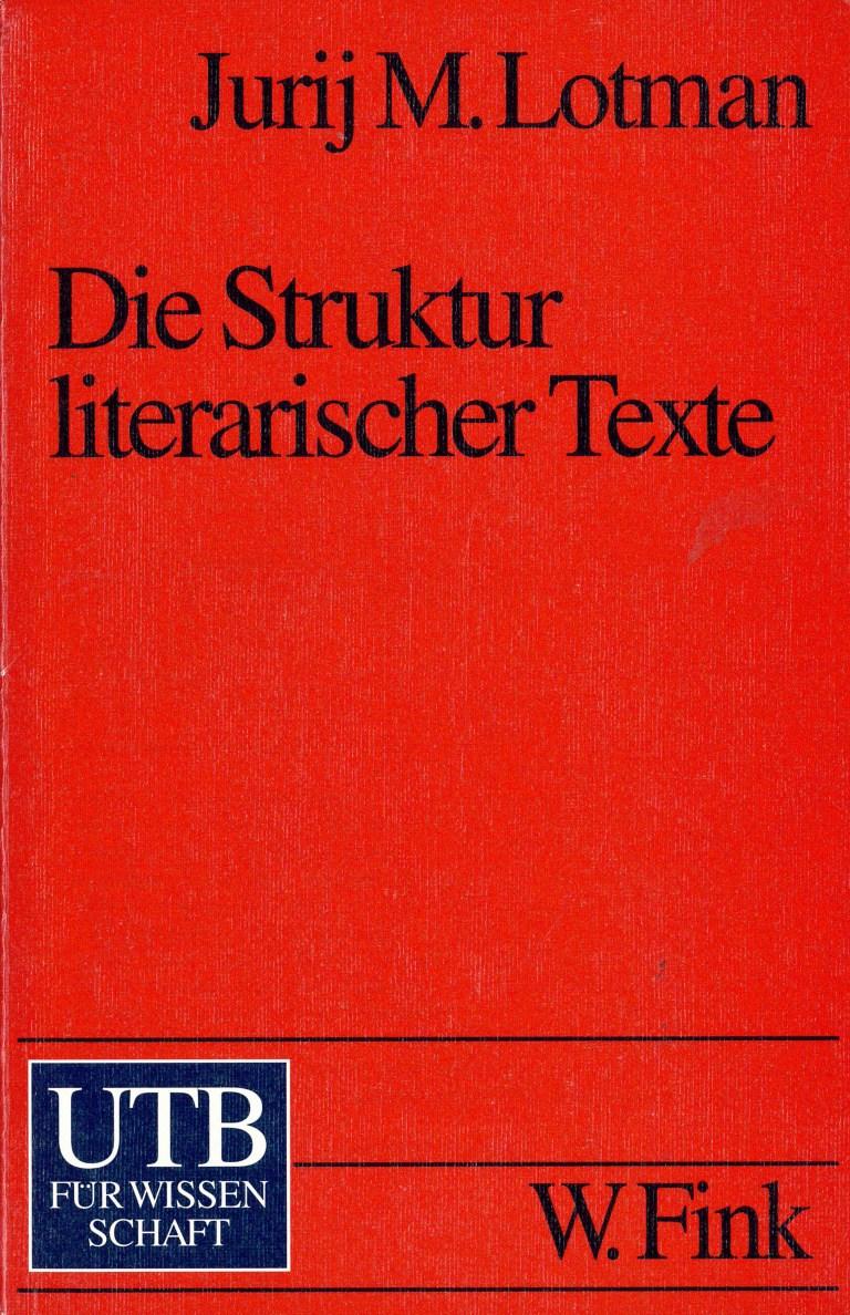 Die Struktur literarischer Texte - Titelcover