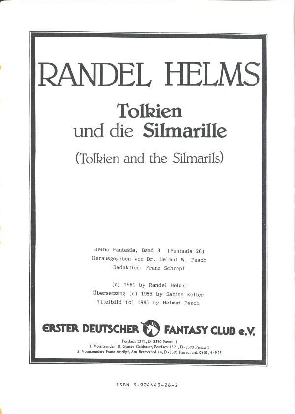 Tolkien und die Silmarille - Impressum