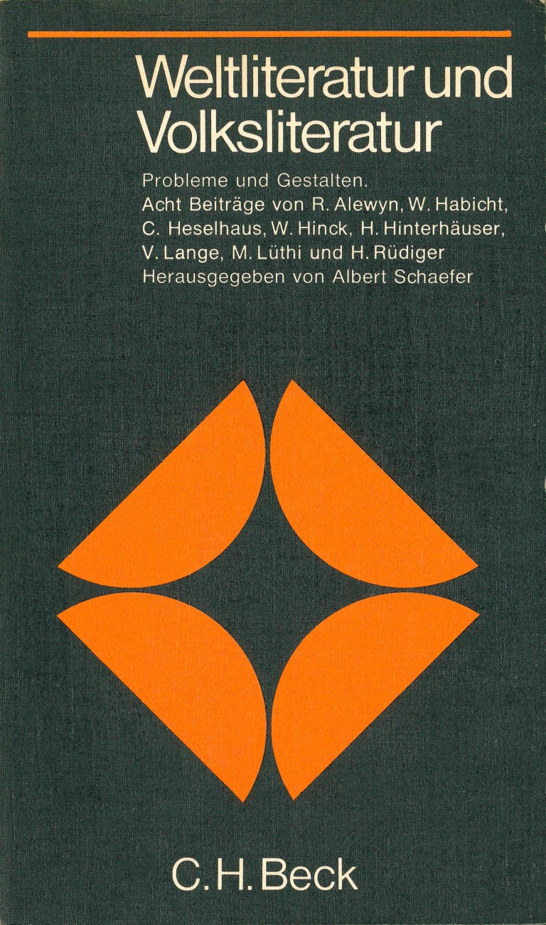 Weltliteratur und Volksliteratur - Titelcover
