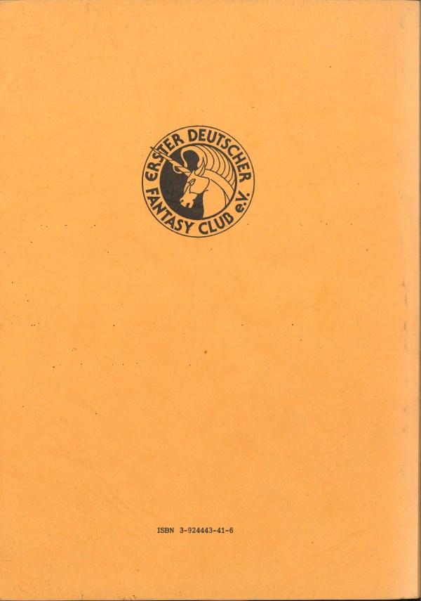 Fantasia 42-34, 2. Kongress - Rückencover