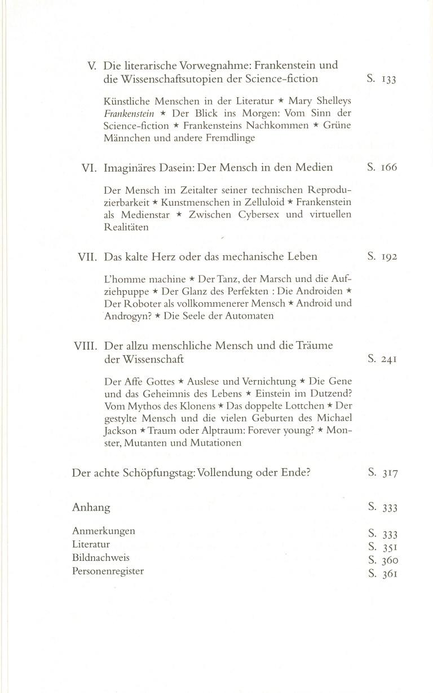 Frankenstein - Inhalt Seite 2