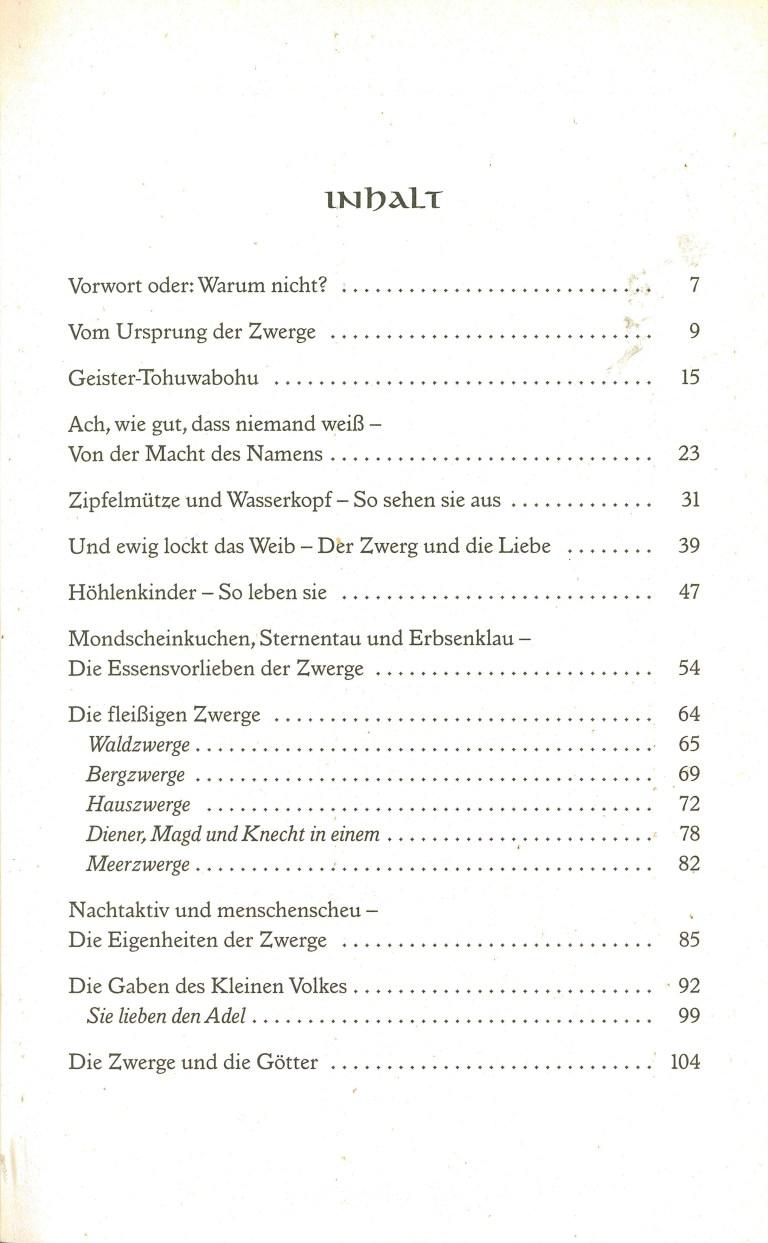 Das Buch der Zwerge - Inhalt