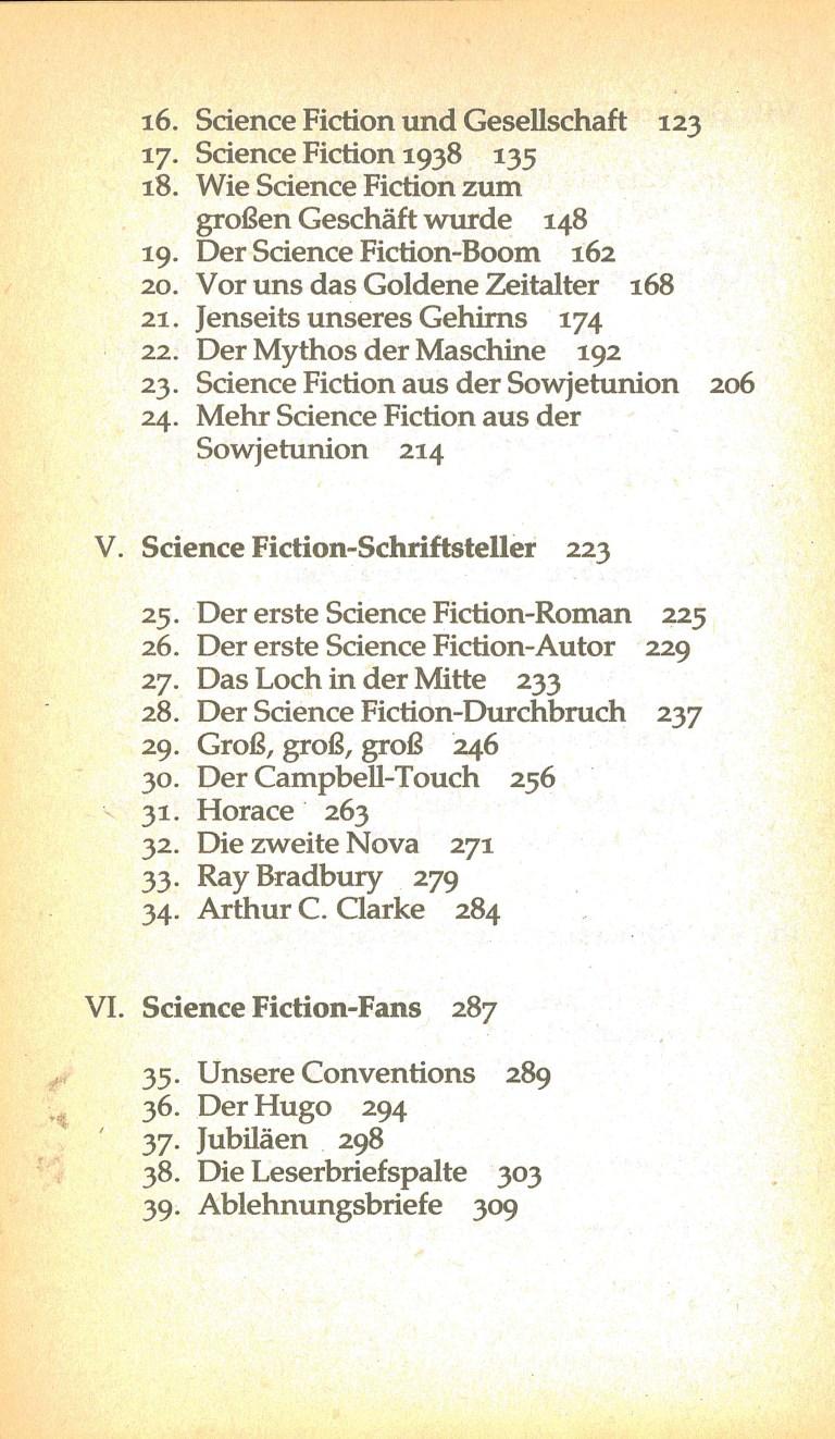 Isaac Asimov über Science Fiction - Inhalt Seite 2