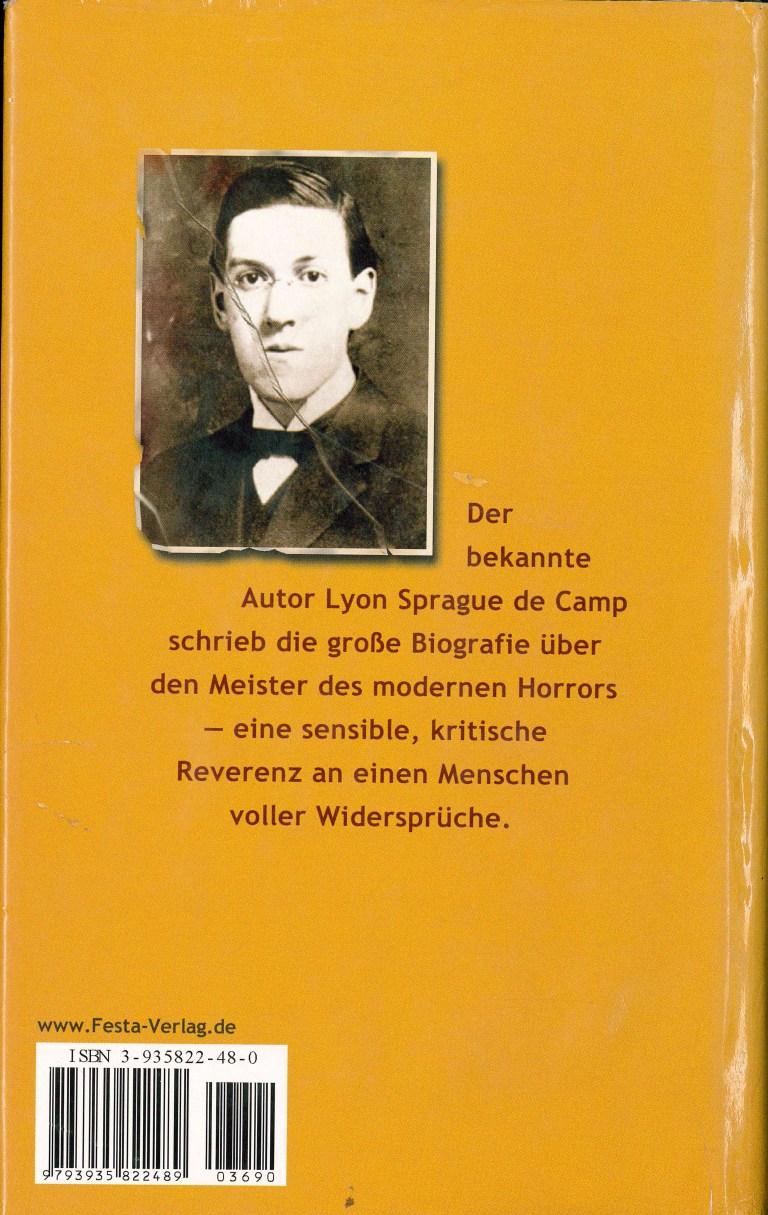 Lovecraft eine Biographie Festa - Rückencover