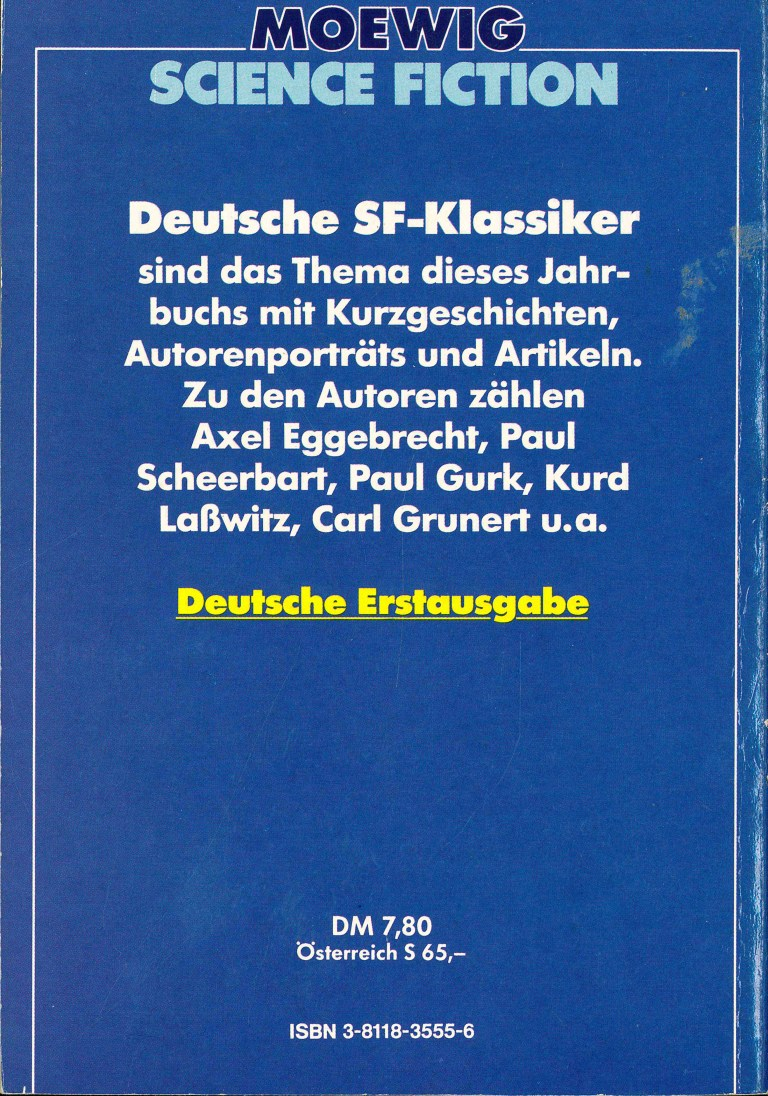 Science Fiction Almanach 1982 - Rückencover