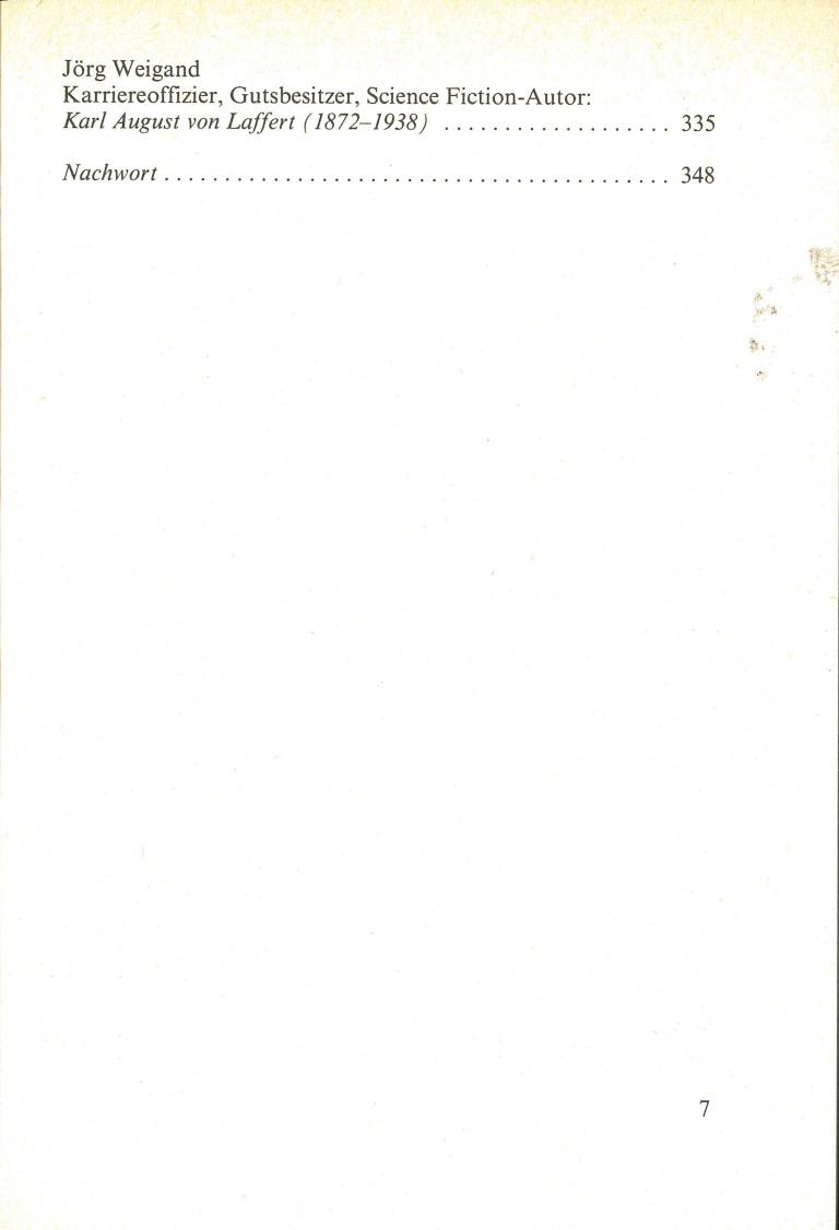 Science Fiction Almanach 1982 - Inhalt Seite 3