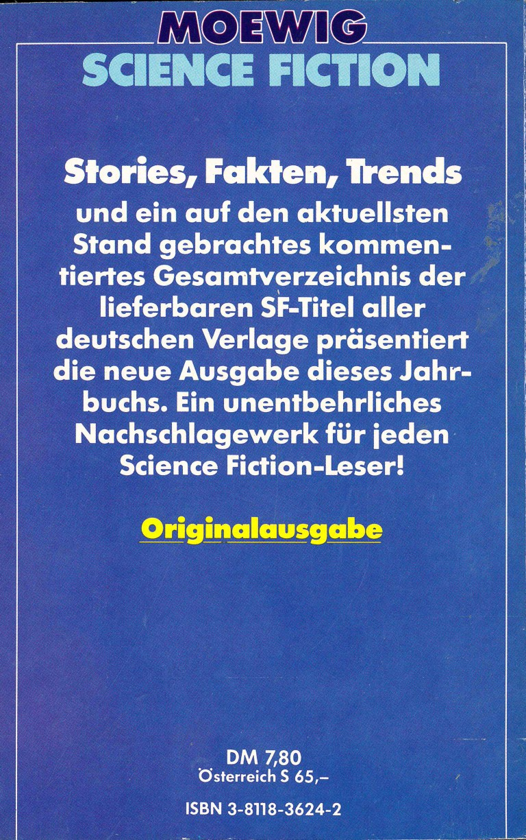 Science Fiction Jahrbuch 1984 - Rückencover