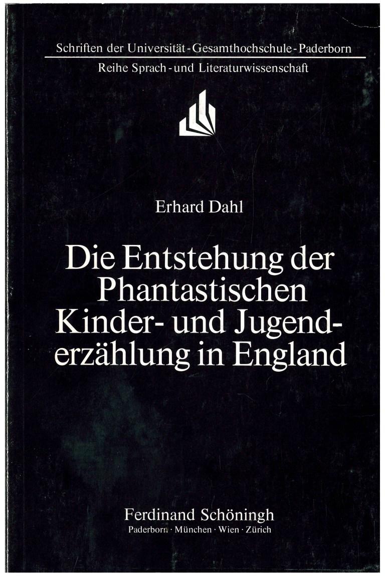 Die Entstehung der Phantastischen Kinder- und Jugenderzählung in England - Titelcover