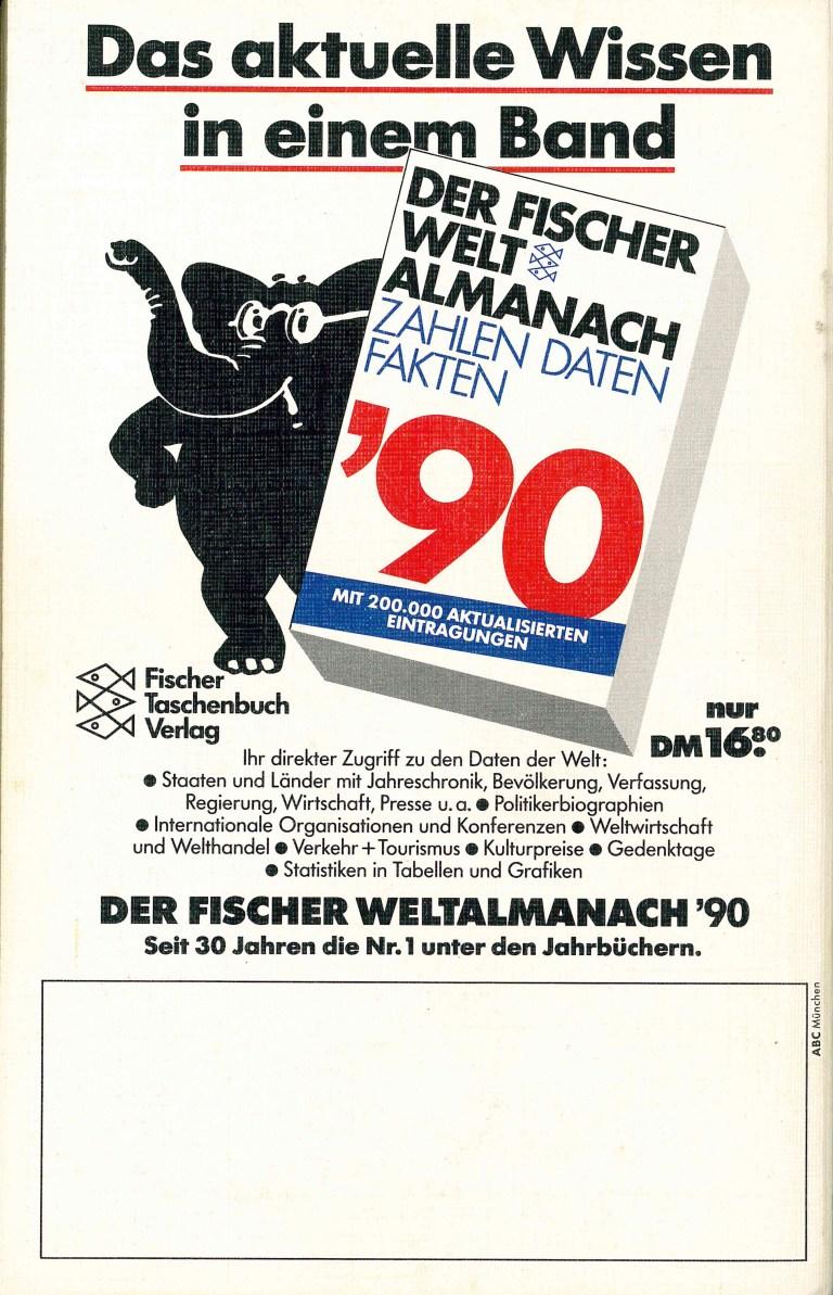 Gesamtverzeichnis Taschenbücher 1990 - Rückencover