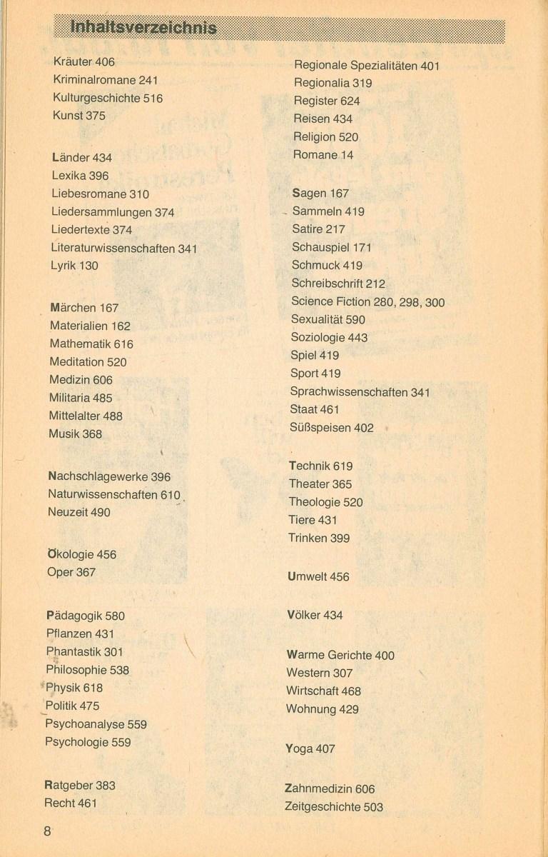 Gesamtverzeichnis Taschenbücher 1990 - Inhalt Seite 2