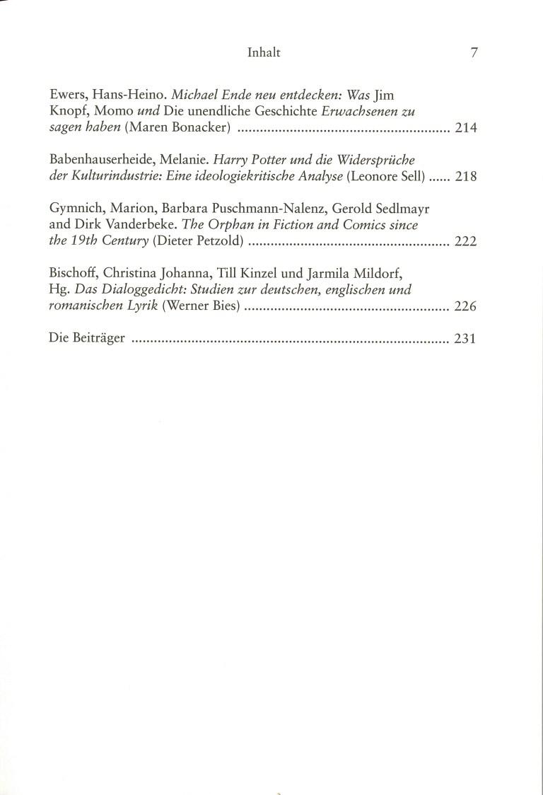 Inklings, Band 36 - Inhalt Seite 3