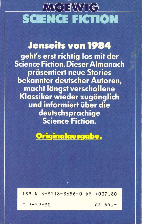 Science Fiction Alamanach 1985 - Rückencover