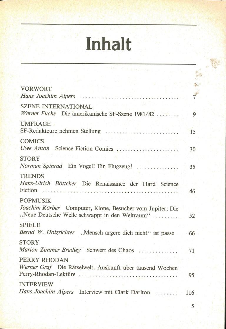 Science Fiction Jahrbuch 1983 - Inhalt Seite 1
