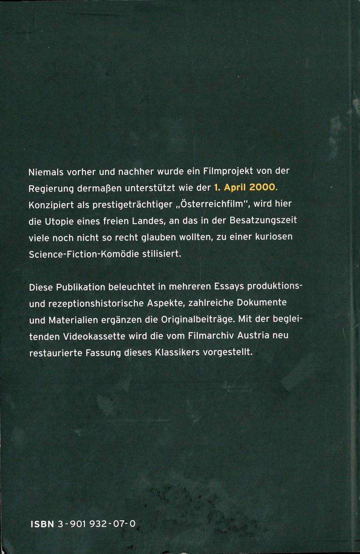 1. April 2000 - Rückencover