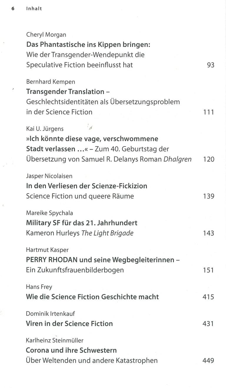 Das Science Fiction Jahr 2020 - Inhalt Seite 2