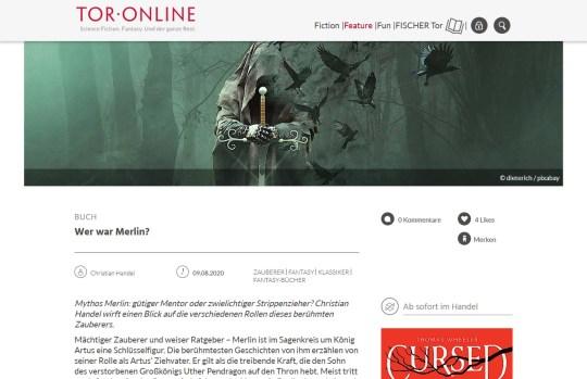 Tor Online - Wer war Merlin 2020-11-05