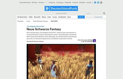 Deutschandfunk 2020-11-29