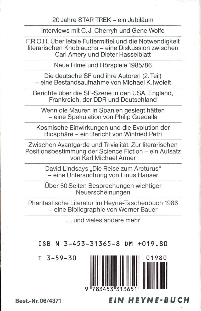 Science Fiction Jahr 1987 - Rückecover