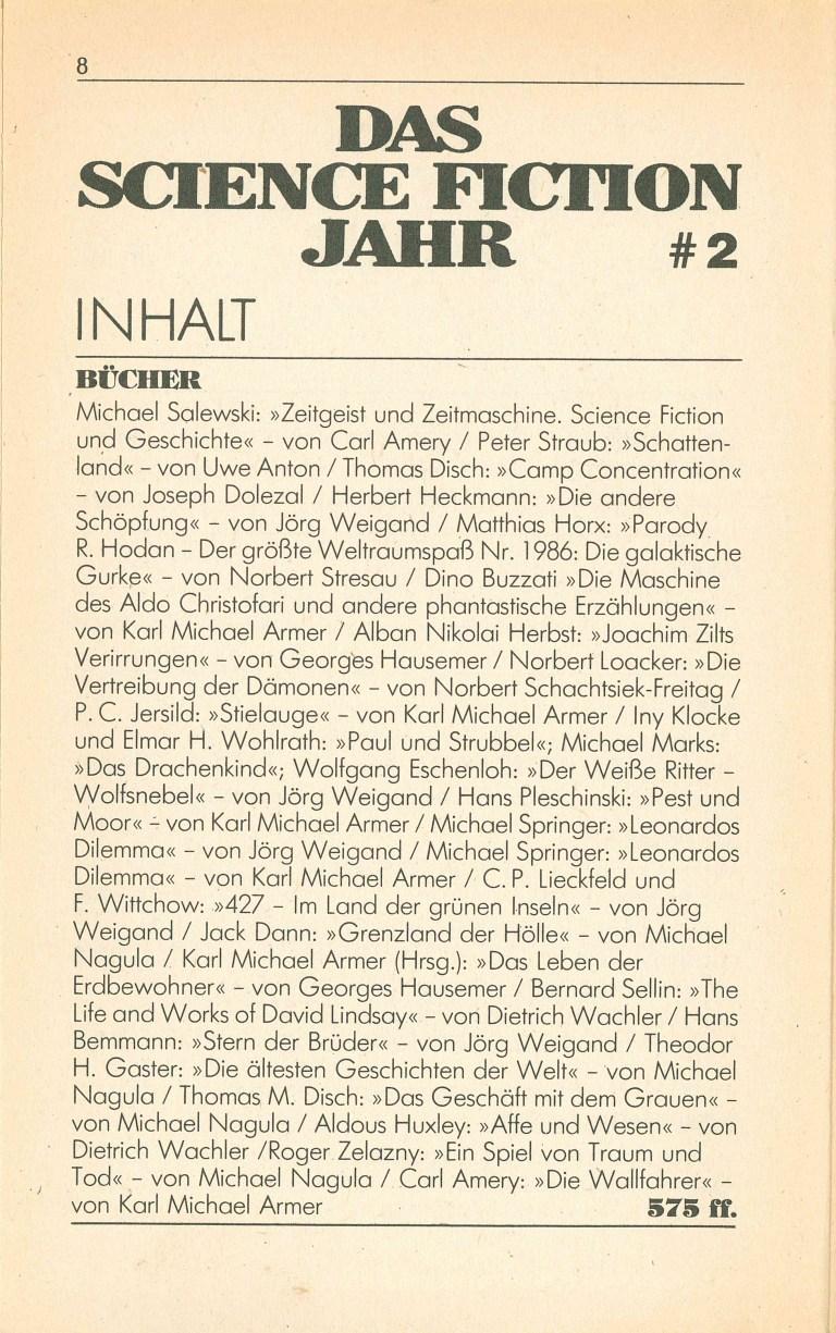 Science Fiction Jahr 1987 - Inhalt Seite 4