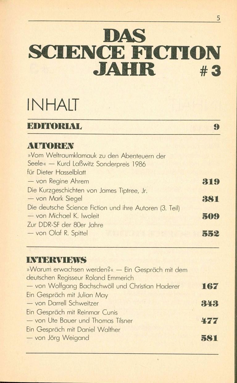 Science Fiction Jahr 1988 - Inhalt Seite 1