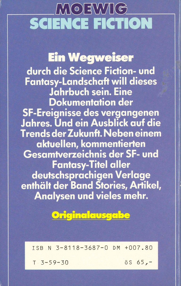 Science Fiction Jahrbuch 1986 - Rückencover