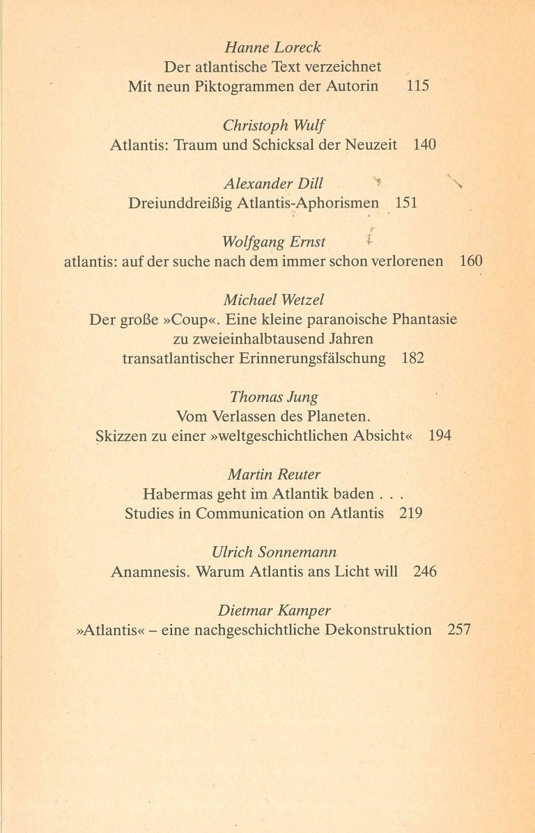 Atlantis zum Beispiel - Inhalt Seite 2