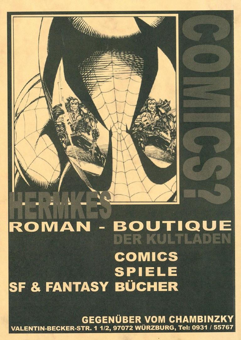 Temporamores, Sonderausgabe 2001 - Rückencover