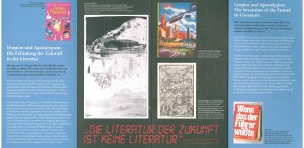 Utopien und Apokaypsen - Ausstellungsfolder Seite 2