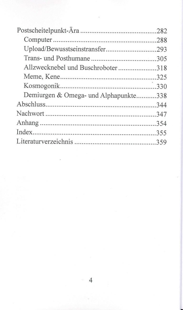 Bewußtsein & Kosmos - Inhalt Seite 3