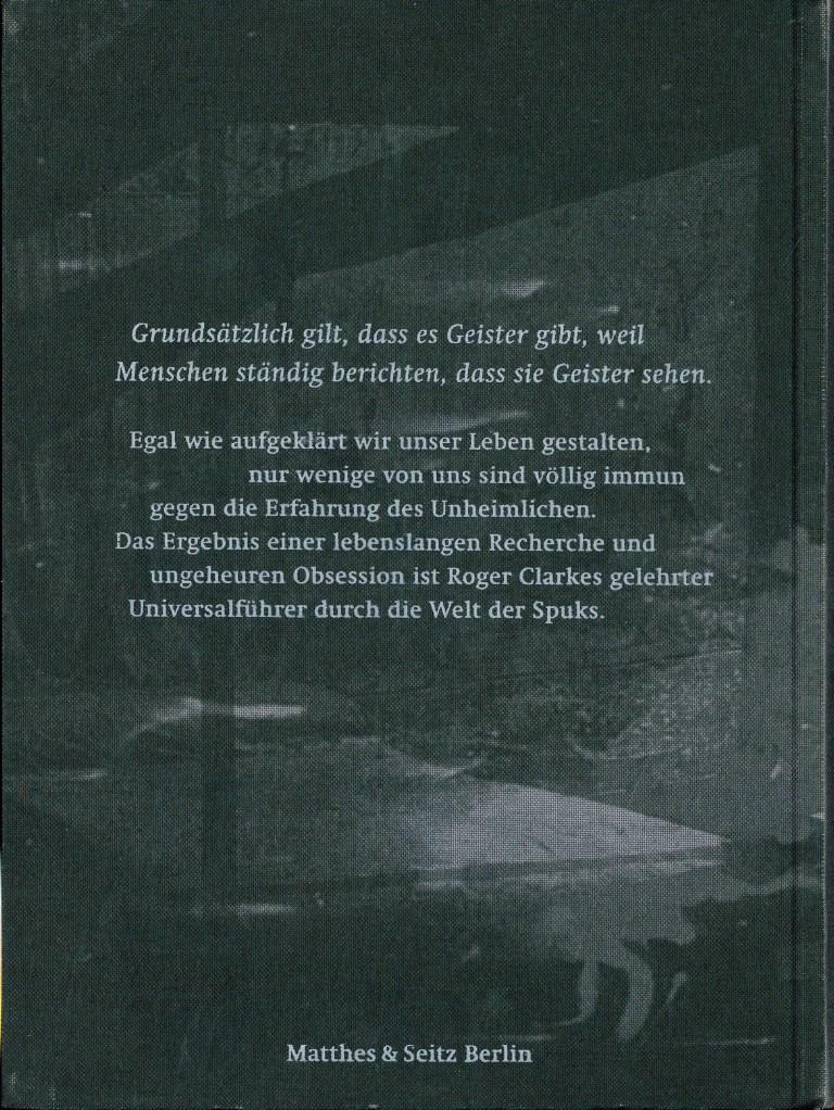 Naturgeschichte der Gespenster - Rückencover