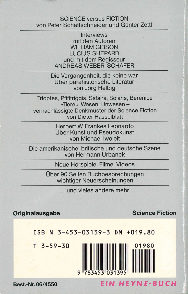 Science Fiction Jahr 1989 - Rückencover
