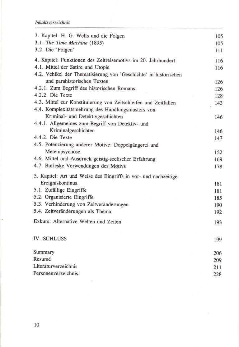 Zeitreisen - Inhalt Seite 2