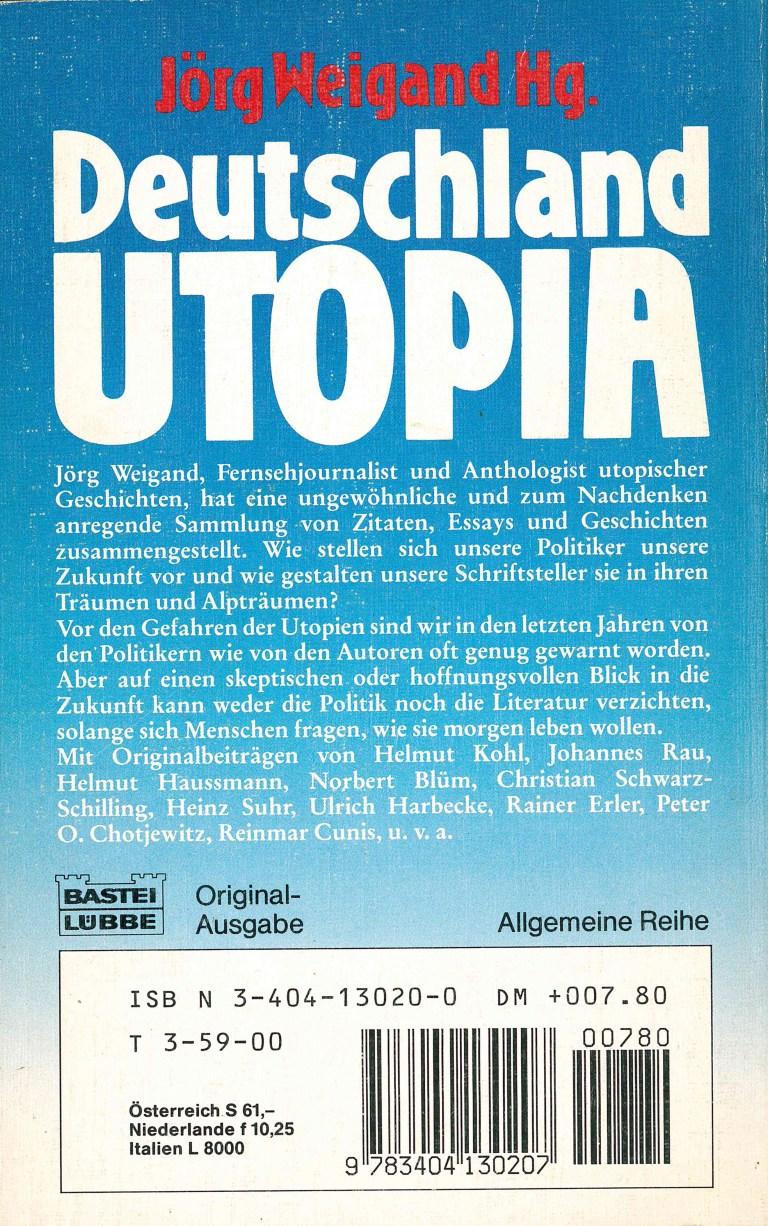 Deutschland Utopia - Rückecover
