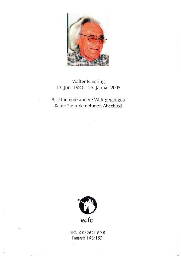 Walter Ernsting zum Gedächtnis - Rückencover