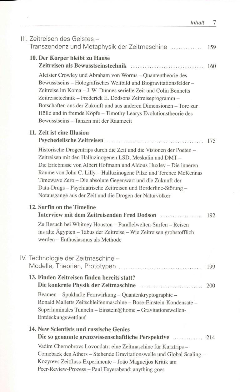 Zeitmaschinen - Inhalt Seite 3