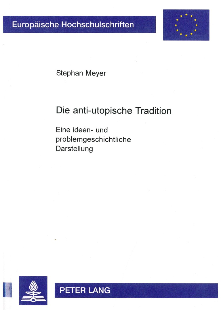Die anti-utopische Tradition - Titelcover