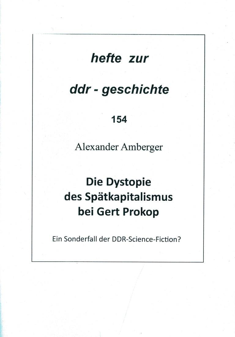 Die Dystopie des Spätkapitalismus bei Gert Prokop - Titelcover
